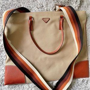 PRADA🔻sale 💯 Authentic canvas leather